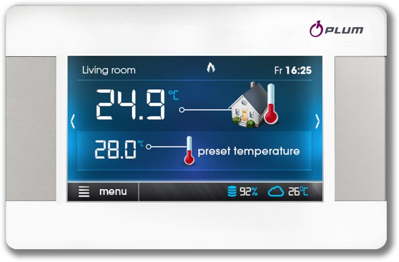 Sterownik ecoSTER TOUCH z termostatem pokojowym